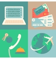 Vacation reservation and booking icons set vector image vector image