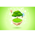 Green Lonely Tree vector image vector image
