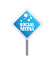Social Media Sign vector image