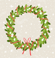Mistletoe wreath vector image