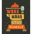 Modern flat design hipster with quote vector image