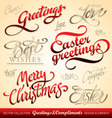greetings lettering set vector image vector image