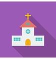 Church single flat icon vector image vector image