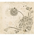 Abstract vintage flower background vector image