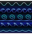 blue tones gradient line waves vector image