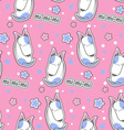 Cartoon seamless pattern with cute bull terrier vector image