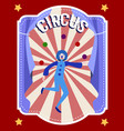 circus flat colorful poster vector image