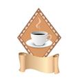 Coffee shop logo design template art vector image