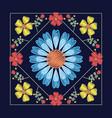 floral pattern over blue background vector image