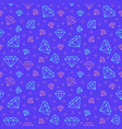 jewelry seamless pattern diamonds line vector image