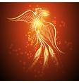 Rising phoenix vector image