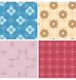 set - color geometric patterns seamless vector image