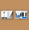 set of medical brochure cover template flyer vector image
