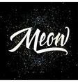 T-shirt printing logo template Meow vector image