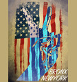vintage american flag typography t-shirt graphics vector image