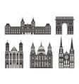 western europe european buildings on white vector image
