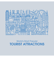 worlds most popular tourist attractions vector image