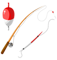 Set of gear for fishing eps10 vector image