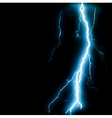 Abstract blue lightning flash background vector image