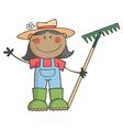 Cartoon farmer vector image vector image