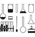 laboratory glass icons vector image