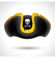 Pirate hat with skull and crossed bones vector image