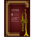 al 0535 cover with trumpet vector image vector image
