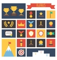 Award icons colorful set of prizes and trophy vector image