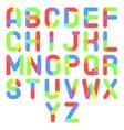 Round Font Alphabet A to Z Minimal Symbol Icon vector image