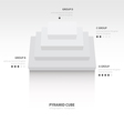 pyramid cube infographic top view white color vector image