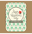 valentines greeting or party invit card vector image