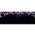 Christmas light banner vector image