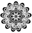 Flower Ornament Black and White vector image
