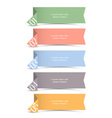 Origami paper numbered banners vector image