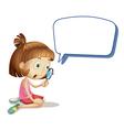 Cartoon Girl Magnify Speech vector image vector image
