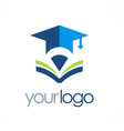 book education university logo vector image