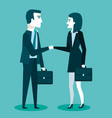 business cooperation handshake of two business vector image