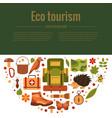 cartoon eco tourism vector image