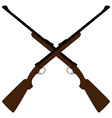 Crossed rifle vector image
