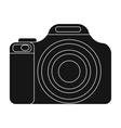 Digital camera icon in black style isolated on vector image