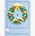 Door wreath vector image