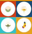 flat icon cotton set of flower cotton hosiery vector image