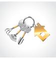Garden tools like keys vector image