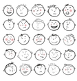 Man face cartoon set vector image