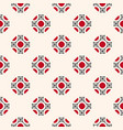 ornamental seamless pattern with floral shapes vector image