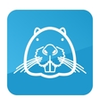 Otter beaver icon Animal head vector image