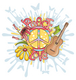 peace and love background vector image