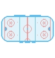 pixel art hockey stadium playground ice court vector image