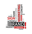 Word cloud with branding tags business concep vector image