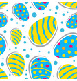 easter seamless pattern with colorful eggs vector image